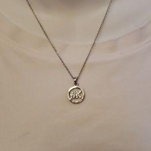 Michael kors silver necklace